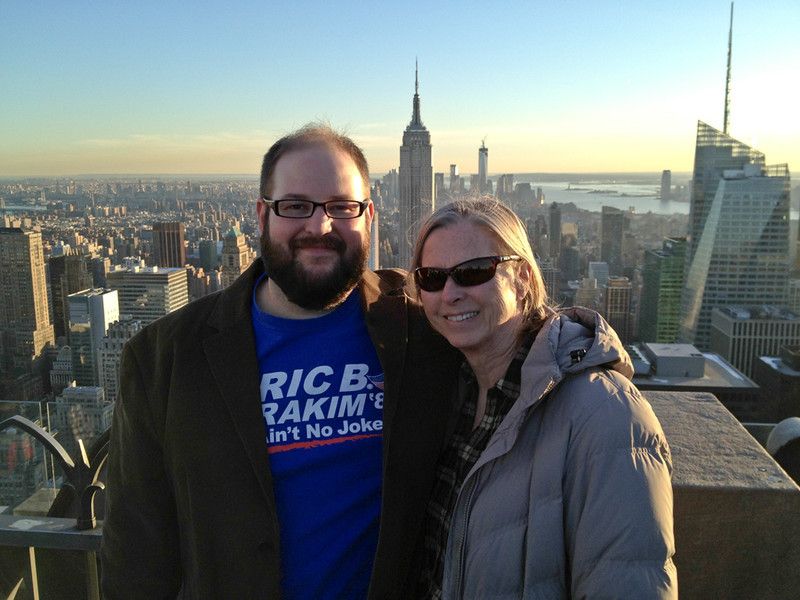 Aaron and Rita at the top of 30 Rock