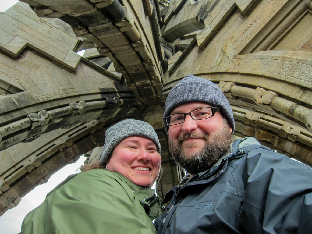 Us at the top of the National Wallace Monument